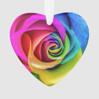 Rainbow Rose Ornament