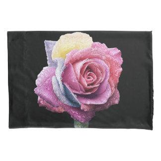 Rainbow Rose Pillowcase