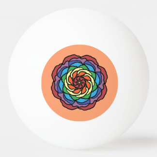 Rainbow Rose Ping Pong Ball