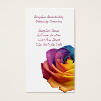 Rainbow Rose Reception Card