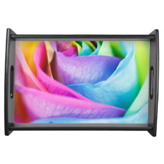 Rainbow Rose Serving Tray