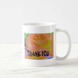 """Rainbow Rose-""""Thank-you"""" Basic White Mug"""