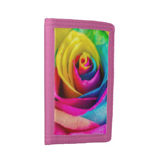 Rainbow Rose Trifold Wallets
