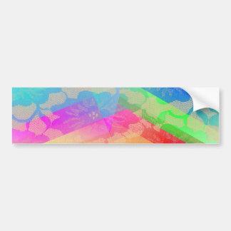 Rainbow Roses Bumper Sticker