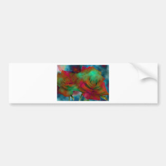 Rainbow Roses Bumper Sticker