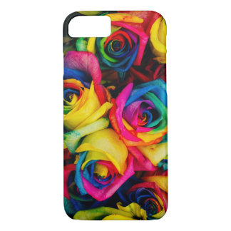 Rainbow roses phone case