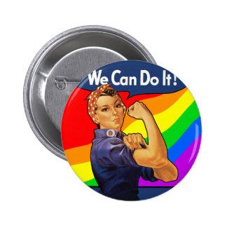 Rainbow Rosie 6 Cm Round Badge