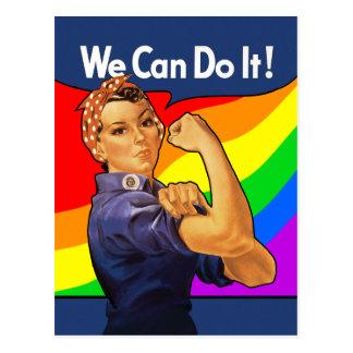 Rainbow Rosie Postcard