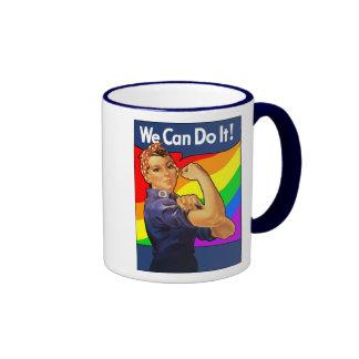 Rainbow Rosie Ringer Mug