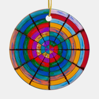 Rainbow Round Christmas Ornament