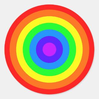 Rainbow Roundel Round Sticker