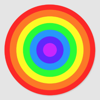 Rainbow Roundel Round Stickers