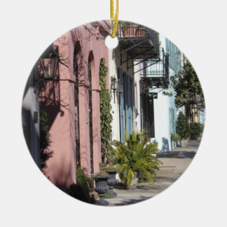Rainbow Row Charleston SC Christmas Ornament