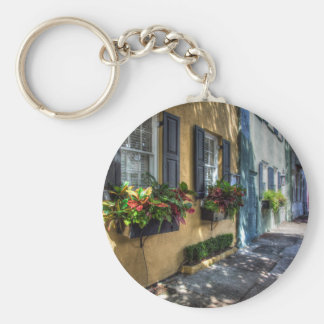 Rainbow Row.jpg Key Ring