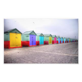 Rainbow Row Photographic Print