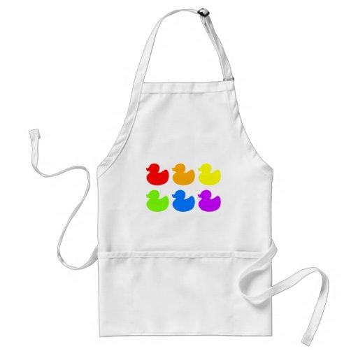 Rainbow Rubber Ducks Apron