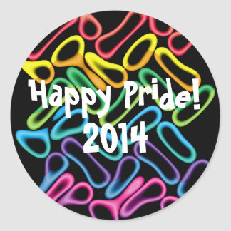 Rainbow Rubber Rings1 LGBT Gay Pride Stickers