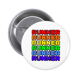 Rainbow Runner 6 Cm Round Badge