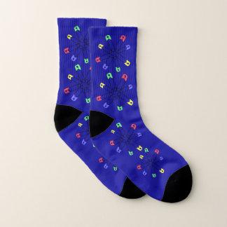 Rainbow Safety Pin Abstract Pattern Socks 1
