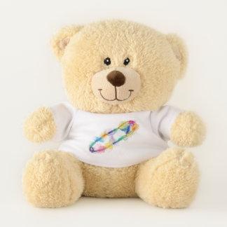 Rainbow Safety Pin Teddy Bear