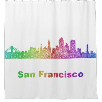 Rainbow San Francisco skyline Shower Curtain