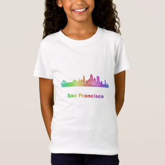 Rainbow San Francisco skyline T-Shirt