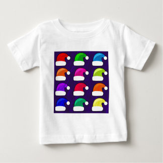 Rainbow Santa Hat Baby T-Shirt