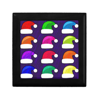 Rainbow Santa Hat Gift Box