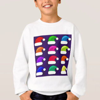 Rainbow Santa Hat Sweatshirt