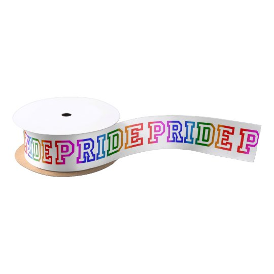 Rainbow Satin PRIDE Ribbon Satin Ribbon