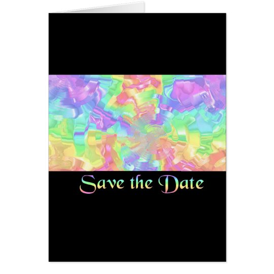 Rainbow Save the Date Card