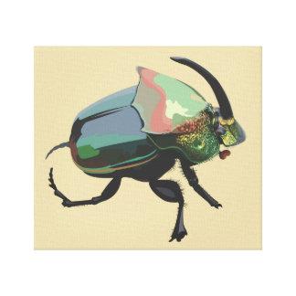 Rainbow Scarab Canvas Print