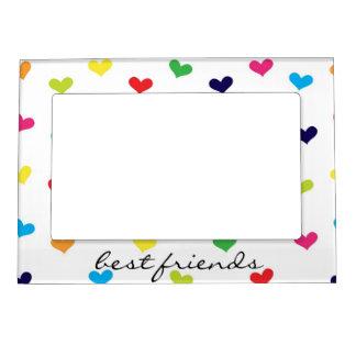 Rainbow Scattered Heart Best Friends Frame
