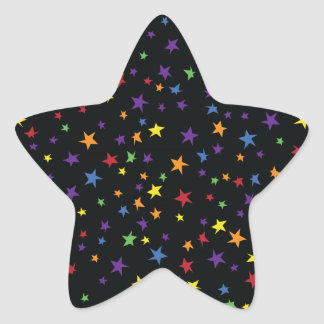 Rainbow Scattered Stars Star Sticker