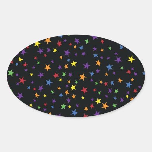 Rainbow Scattered Stars Sticker
