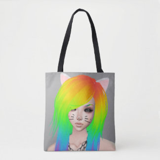 Rainbow Scene Queen all-over print tote