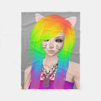 Rainbow Scene Queen Fleece Blanket