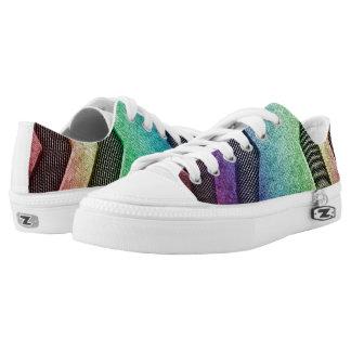 Rainbow Sci-fi Design Low Top Shoes