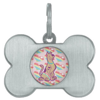 Rainbow Scooby-Doo Pet Name Tag