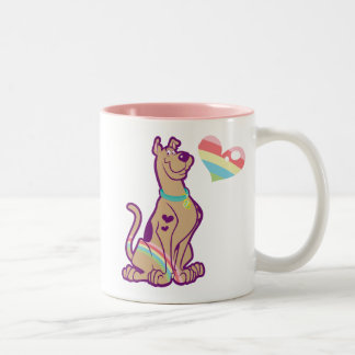 Rainbow Scooby-Doo Two-Tone Coffee Mug