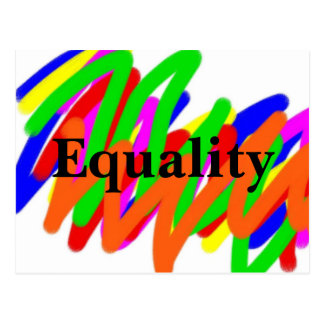 Rainbow Scribble Equality postcard