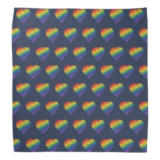 Rainbow scribble heart bandana