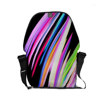Rainbow Scribble Messenger Bag