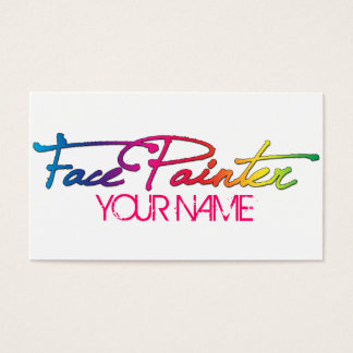 Rainbow Script Business Card