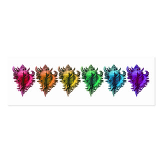 Rainbow Sea Shells Reception Table Seating Cards Pack Of Skinny Business Cards