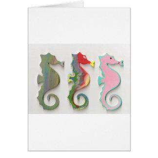 RAINBOW SEAHORSES CARD