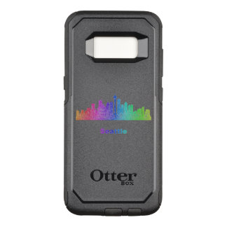 Rainbow Seattle skyline OtterBox Commuter Samsung Galaxy S8 Case