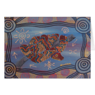RAINBOW SERPENT DREAMING CARD