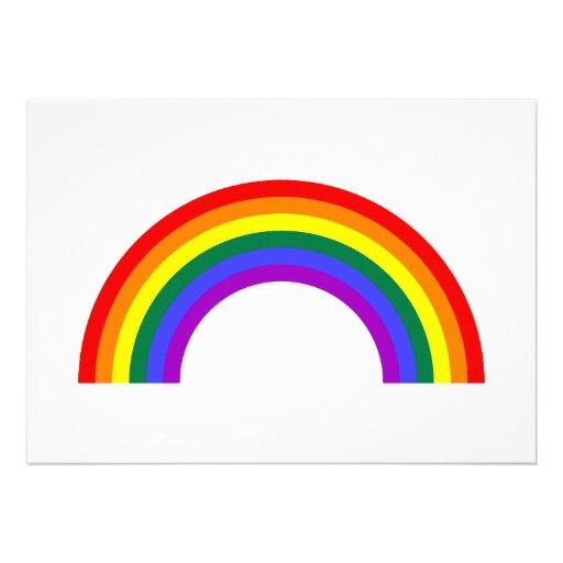 Rainbow Shape 13 Cm X 18 Cm Invitation Card | Zazzle: www.zazzle.co.uk/rainbow_shape_invite-161396934274872342