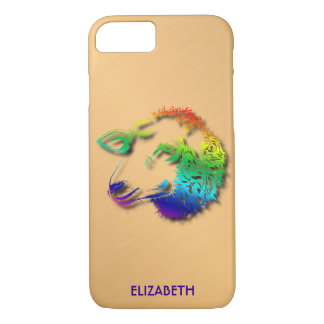 Rainbow Sheep Lamb With Shadows Drawing iPhone 8/7 Case